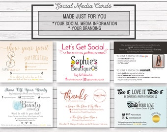 Social Media Cards, Etsy Review Cards, Etsy Thank You Notes, Snap a Pic, Custom Packaging, Feedback Cards, Marketing Postcard, Promo Card