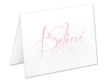 Pink Breast Cancer Awareness Note Cards & Stationery Sets | The Enchanted Envelope