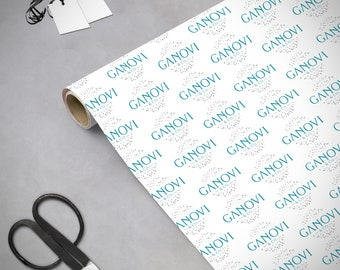 Logo Wrapping Paper, Branded Wrapping Paper, Wrapping Paper Roll, Custom Wrapping Paper, Personalized Wrapping Paper