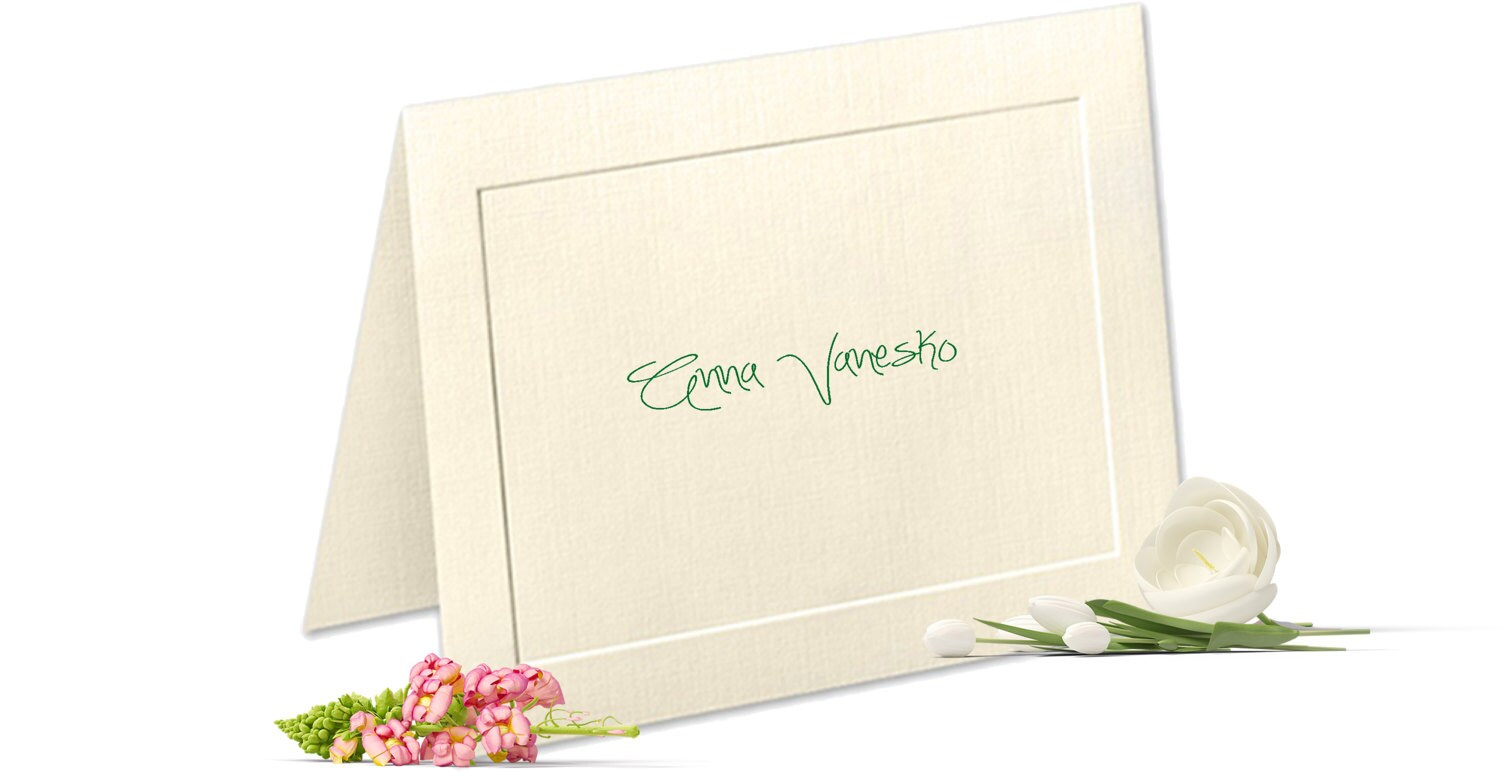 embossed panel linen finish personalized note cards custom notecards personalized stationery set thank you cards stationary set - Personalized Stationery Cards