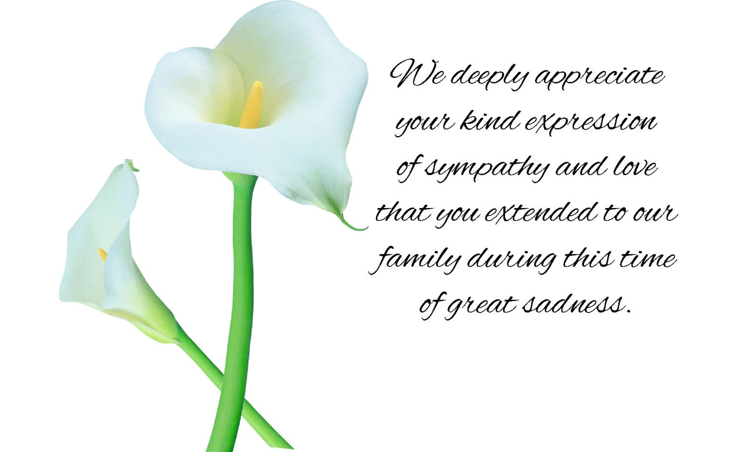 Personalized Sympathy Acknowledgement Cards Personalized Funeral