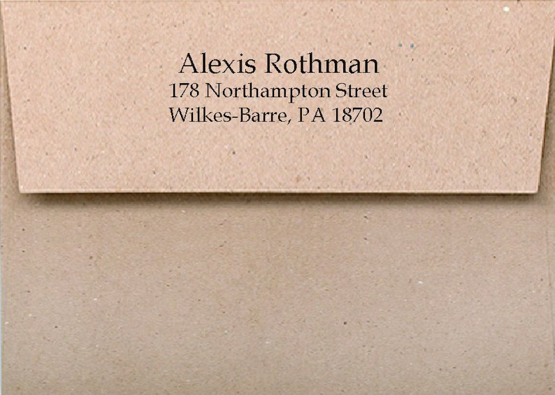Return Address PRINTING on envelopes for note cards from The image 0