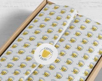 Branded Tissue Paper, Custom Tissue Paper, Full Color Tissue Paper, Tissue Paper With Logo, Packaging Materials, Branded Packaging Items