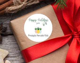 Branded Christmas Stickers, Logo Packaging Stickers, Logo Christmas Stickers, Holiday Stickers, Logo Christmas Labels, Branded Holiday Label