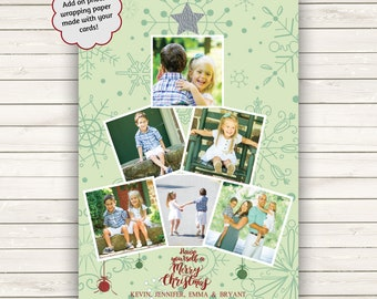 Photo Christmas Cards, Photo Wrapping Paper, Holiday Photo Cards, Printed Christmas Cards, Christmas Photo Wrapping Paper, Christmas Paper