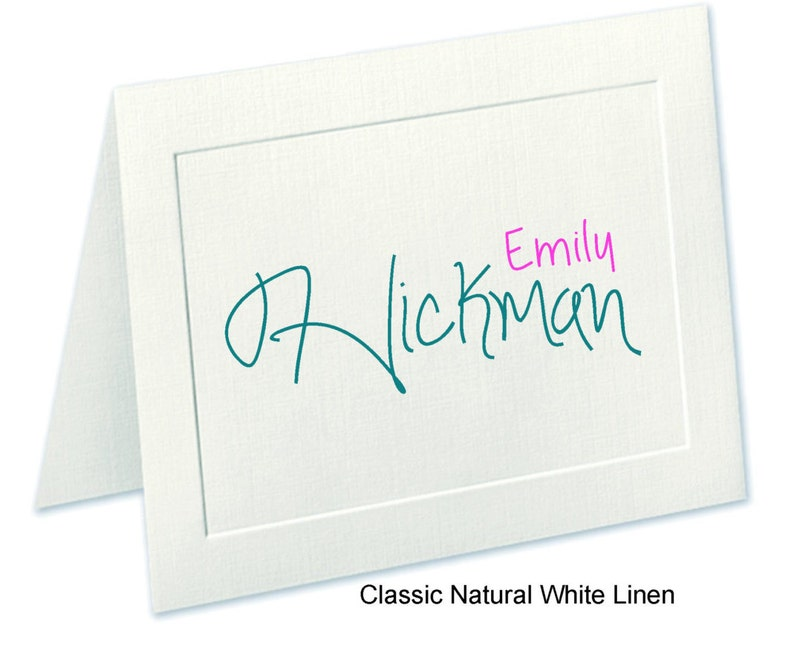 Embossed Panel Personalized Note Cards Custom Notecards Stationary Stationery Set Personalized Notecards Linen Finish Thank You Cards