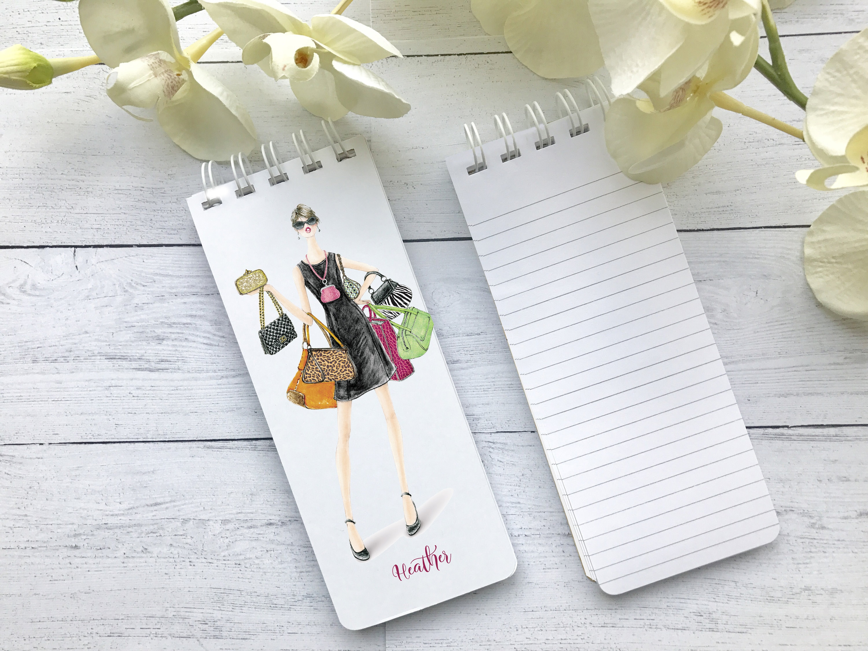 spiral notepads to do lists set of 3 personalized note pads