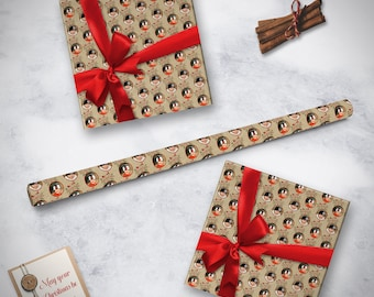 Photo Christmas Wrapping Paper, Photo Wrapping Paper,  Ho Ho Ho Wrapping Paper, Photo Holiday Gift Wrap, Personalized Gift Wrap, Custom