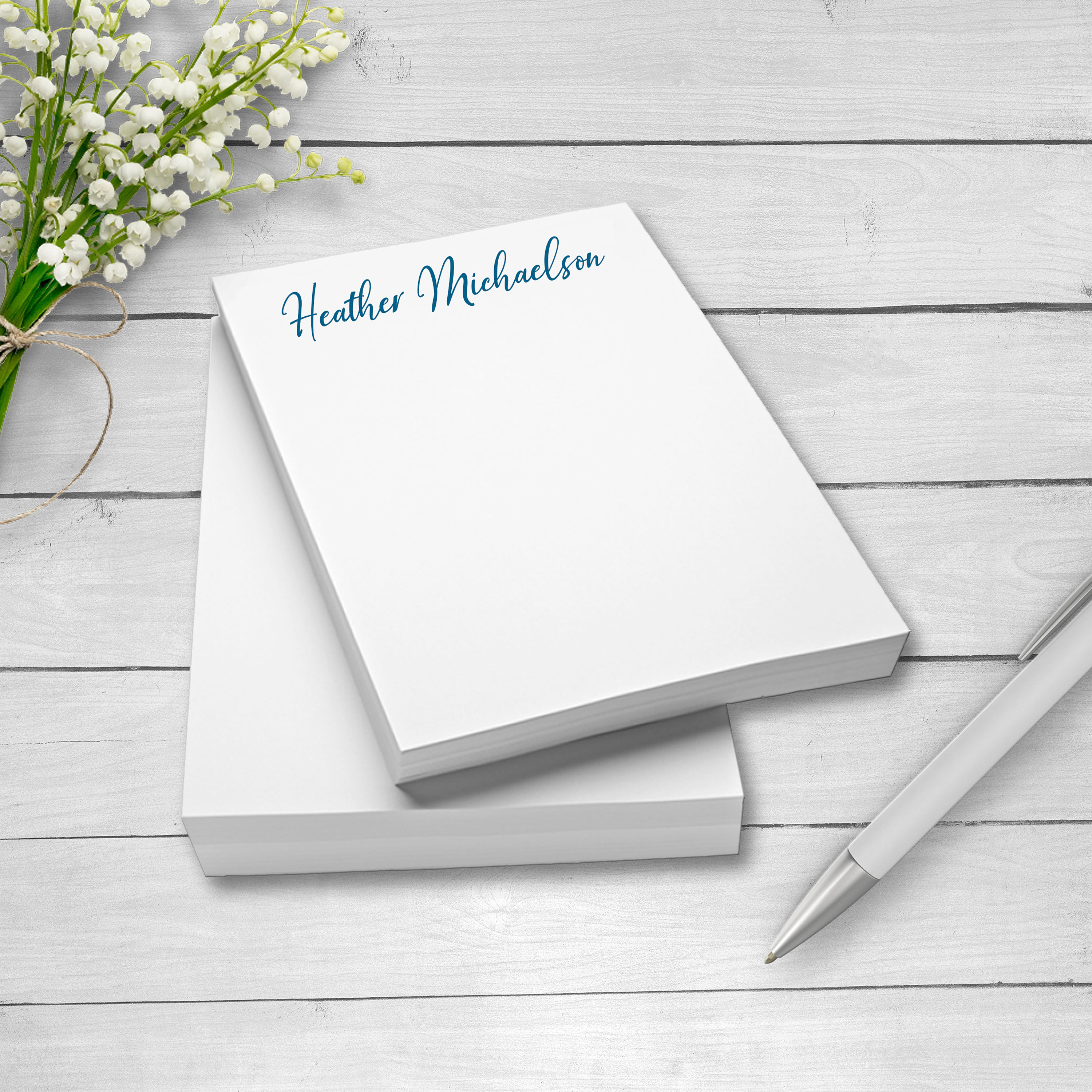 personalized note pads glued note pads personalized notepads