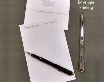 Personalized Letterhead, Gold Foil Stationery Set, Envelope Printing, Loose Leaf Paper, Laid Stationary, Embossed Personalized Stationery