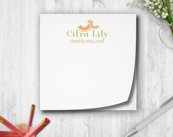 Branded Sticky Notes, Personalized Post It Notes, Sticky Notes With Logo, Custom Sticky Notes, Post It Notes With Branding, Logo Items
