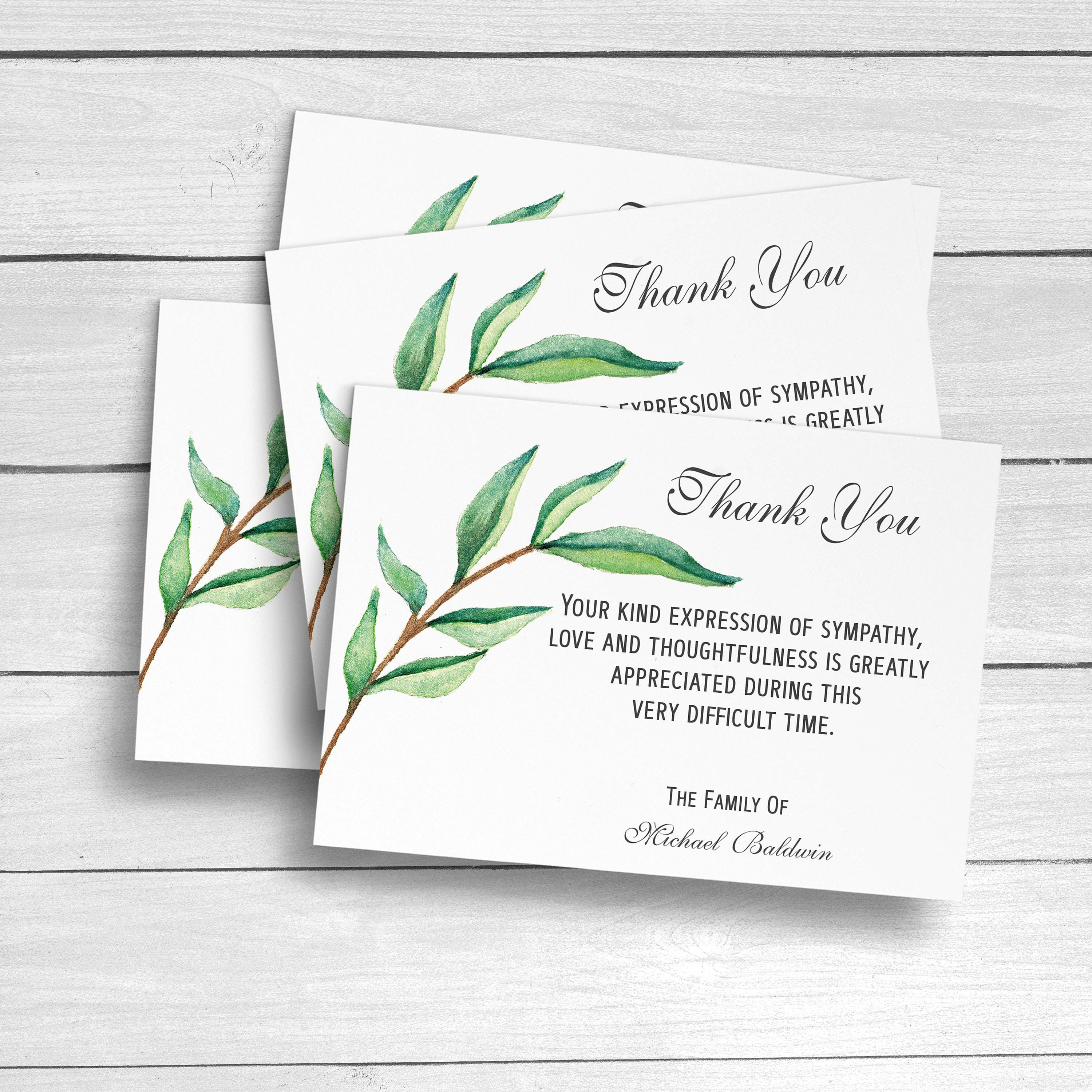 funeral thank you cards sympathy acknowledgement cards bereavement