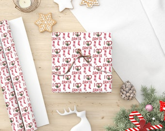 Photo Holiday Gift Wrap, Photo Christmas Wrapping Paper, Photo Wrapping Paper,  Be Merry and Bright, Personalized Gift Wrap, Custom Wrapping