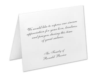 Sympathy Acknowledgement Cards, Funeral Thank You Cards, Sympathy Thank You Cards, Funeral Cards, Funeral Note Cards, Bereavement Cards,