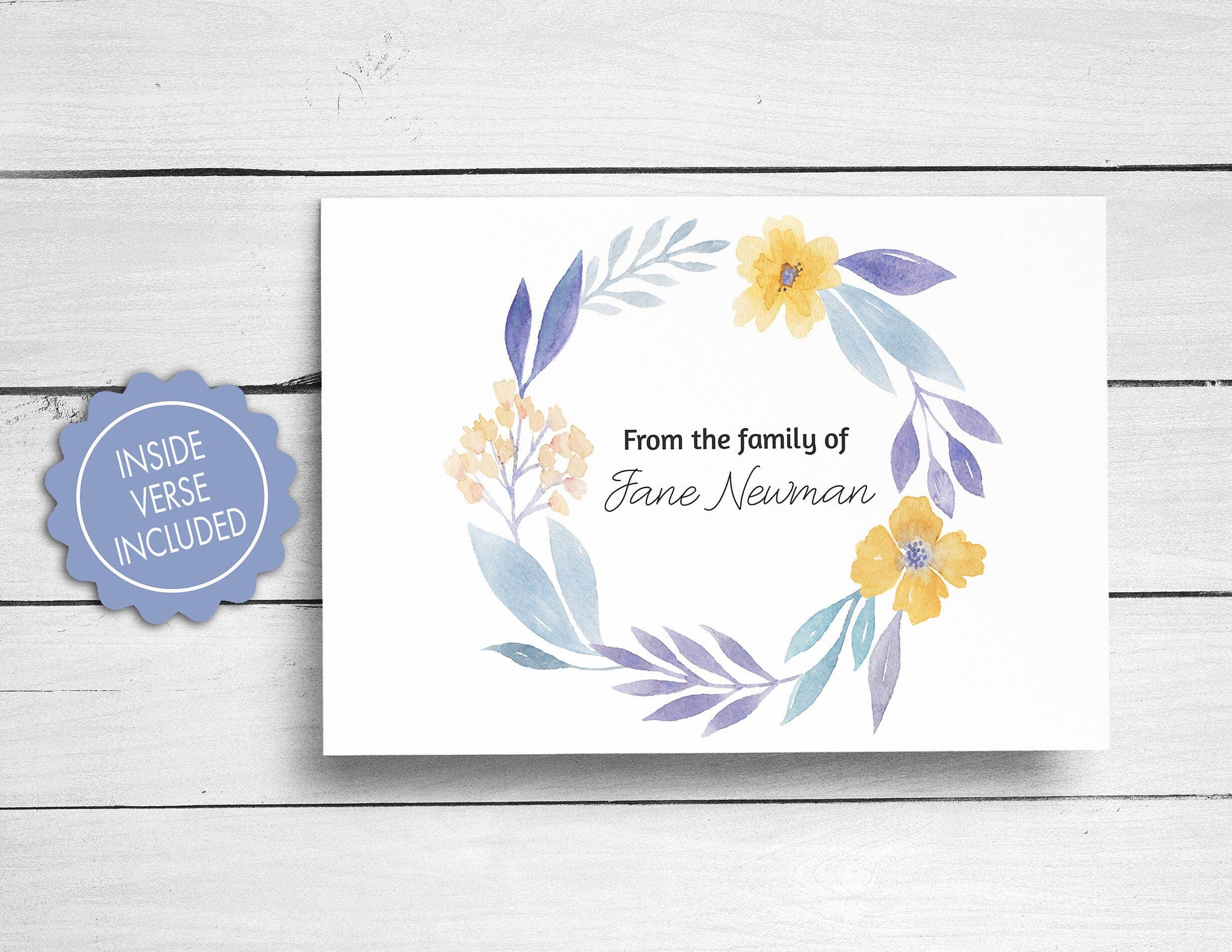 Sympathy acknowledgement cards funeral thank you cards bereavement sympathy acknowledgement cards funeral thank you cards bereavement cards floral funeral cards personalized funeral note cards m4hsunfo