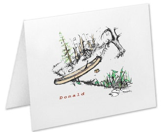 Personalized Note Cards, Canoe Stationery Set, Lake Scene, Outdoors Lover, Christmas Gift, Stationary Set, Thank You Cards, Notecards