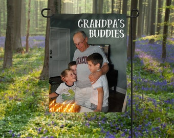 Personalized Father's Day Gift, Photo Flag, Grandpa Photo Gift, Personalized Flag, Poppy Photo Gift, Father's Day Photo Gift, Best Bud Gift
