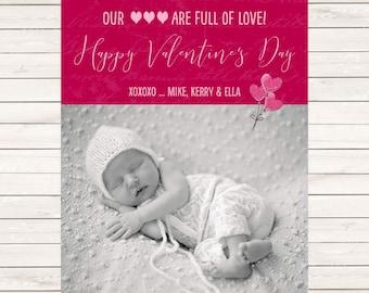 Kids Photo Valentine's Day cards, Photo Valentines Cards, Valentine's Photo Cards, Kids Valentine's, Baby Valentine's Day Cards, Valentine's
