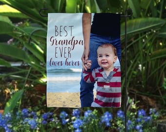 Personalized Father's Day Gift, Photo Flag, Grandpa Photo Gift, Personalized Flag, Poppy Photo Gift, Father's Day Photo Gift, Grandfather