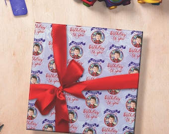 Photo Wrapping Paper, Birthday Wrapping Paper, Custom Wrapping Paper Sheets, Photo Birthday Wrapping Paper, Wrapping Paper With Photos