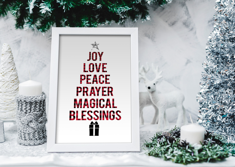 Christmas Print, Christmas Tree Sign, Wall Decor, Christmas Tree ...