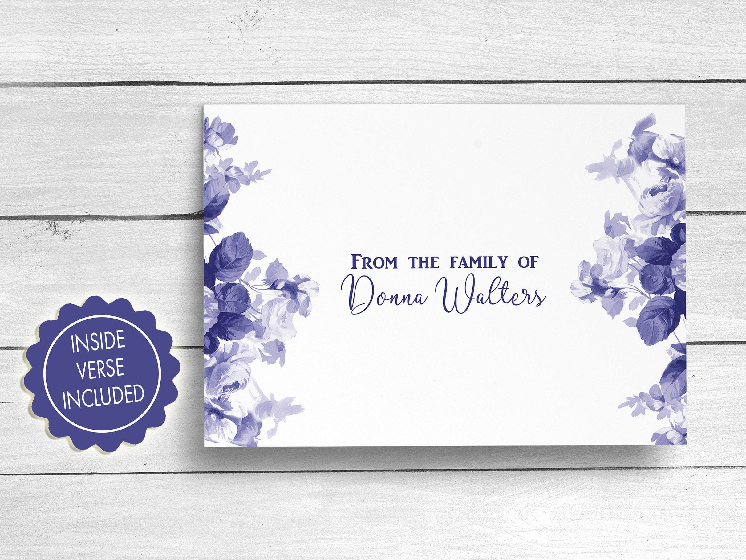 Funeral Thank You Cards Bereavement Cards Sympathy Acknowledgement