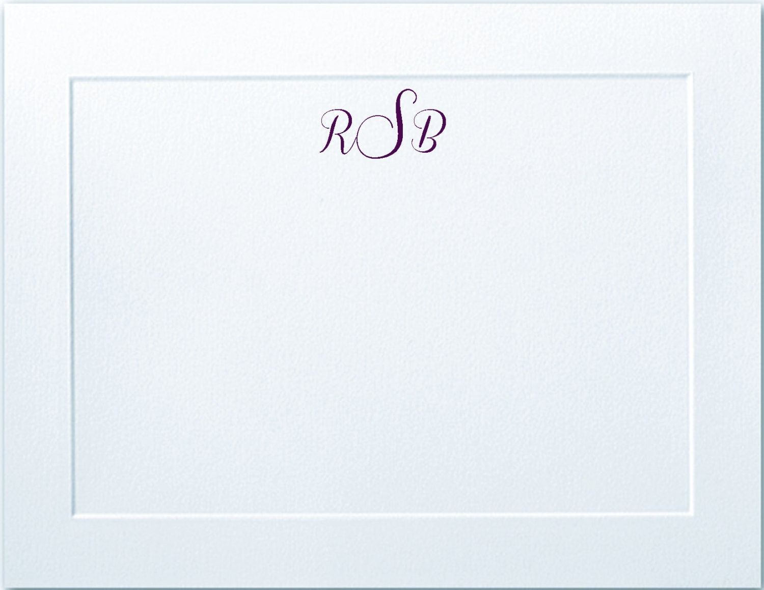 embossed panel monogrammed personalized flat note cards stationery teacher gift thank you cards notecards christmas gift stationary - Personalized Flat Note Cards