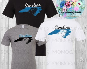 North Carolina Panthers Football Tshirt Carolina Panthers Football Shirt  Womens Ladies Girls Kids Youth Infant Baby Football Shirt Fall f5cbc10e1