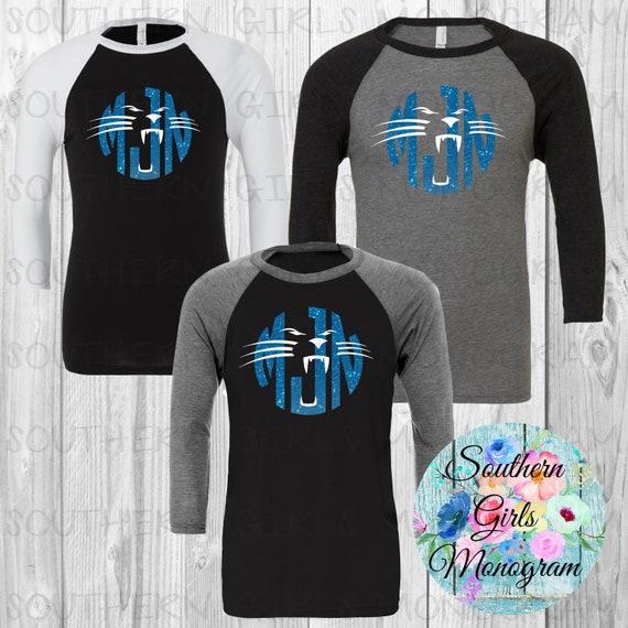 Adult Monogram Carolina Panthers Shirt Carolina Panthers  681eae27d
