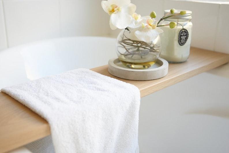 Bath Tray Bath Caddy made from Solid French Oak Bath Shelf image 0