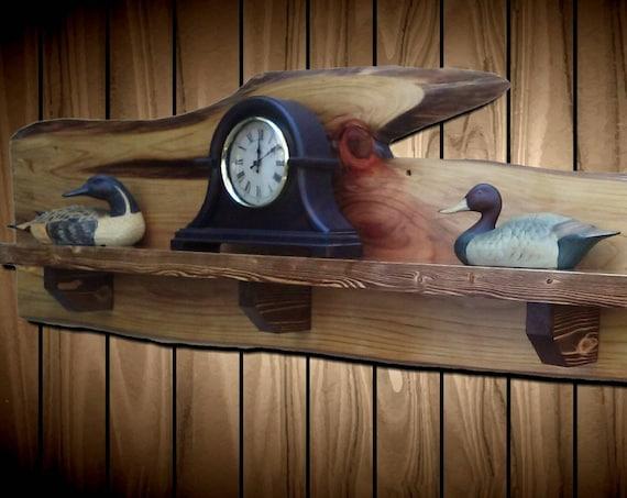 Live Edge Mantel Shelf Cypress Pine Home Cabin Lodge Rustic Wall Decor  Decor Handcrafted Gift