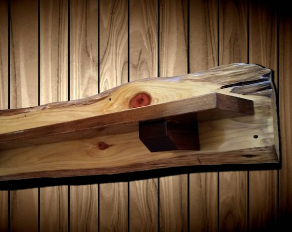 Rustic Cypress Shelf/Mantel Traditional Walnut Supports Home Cabin Decor Handcrafted Gift