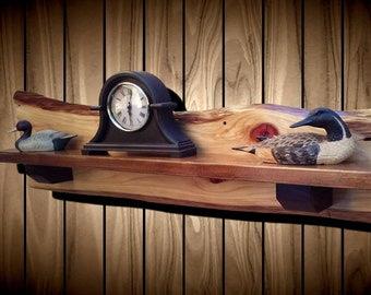 Live Edge Rustic Cypress Shelf, Mantel, Home, Cabin Decor, Handcrafted Gift, FREE SHIPPING