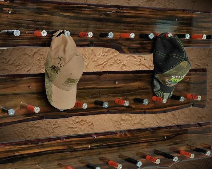 "Set of 3 Rustic Shotgun Shell Hat/Coat Rack 58"" Beautiful Faux Finish Heavy Duty Wall Display Lodge Restaurant Bar Décor, Free Shipping"