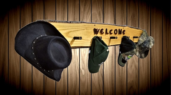 Welcome Hat Coat Rack 7 Shotgun Shell Pegs Home Cabin Rustic Wall Decor Gift