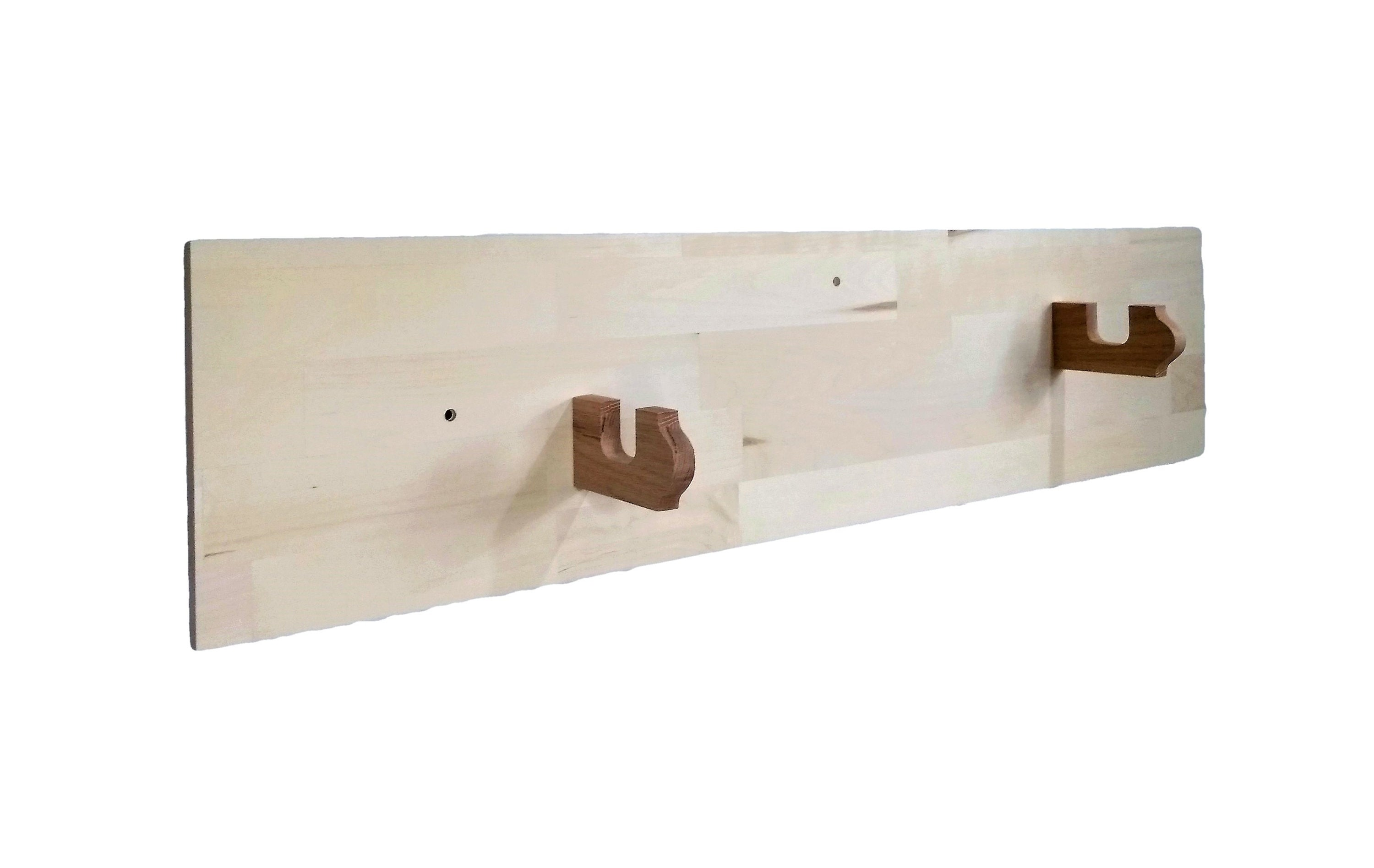Unfinished Wood Gun Rack Aspen Wall Mount Home Office