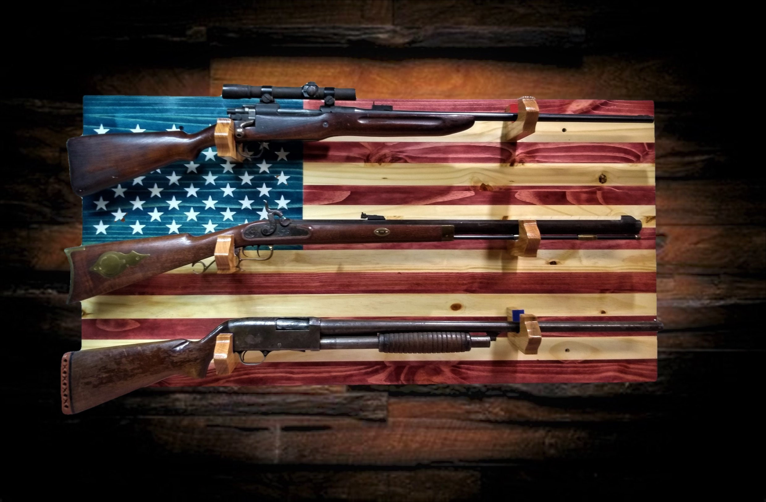 2nd Amendment American Flag Display