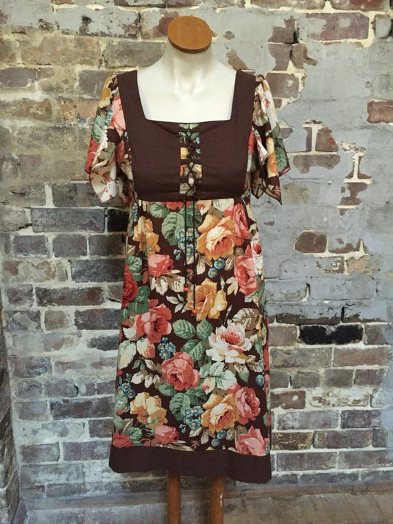 Late 1970s floral dress.