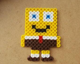 Sponge Bob Square Pants Perler Beads, Sponge Bob, Perler Beads