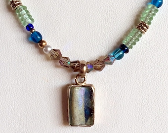 ROMAN GLASS Necklace (Handcrafted)