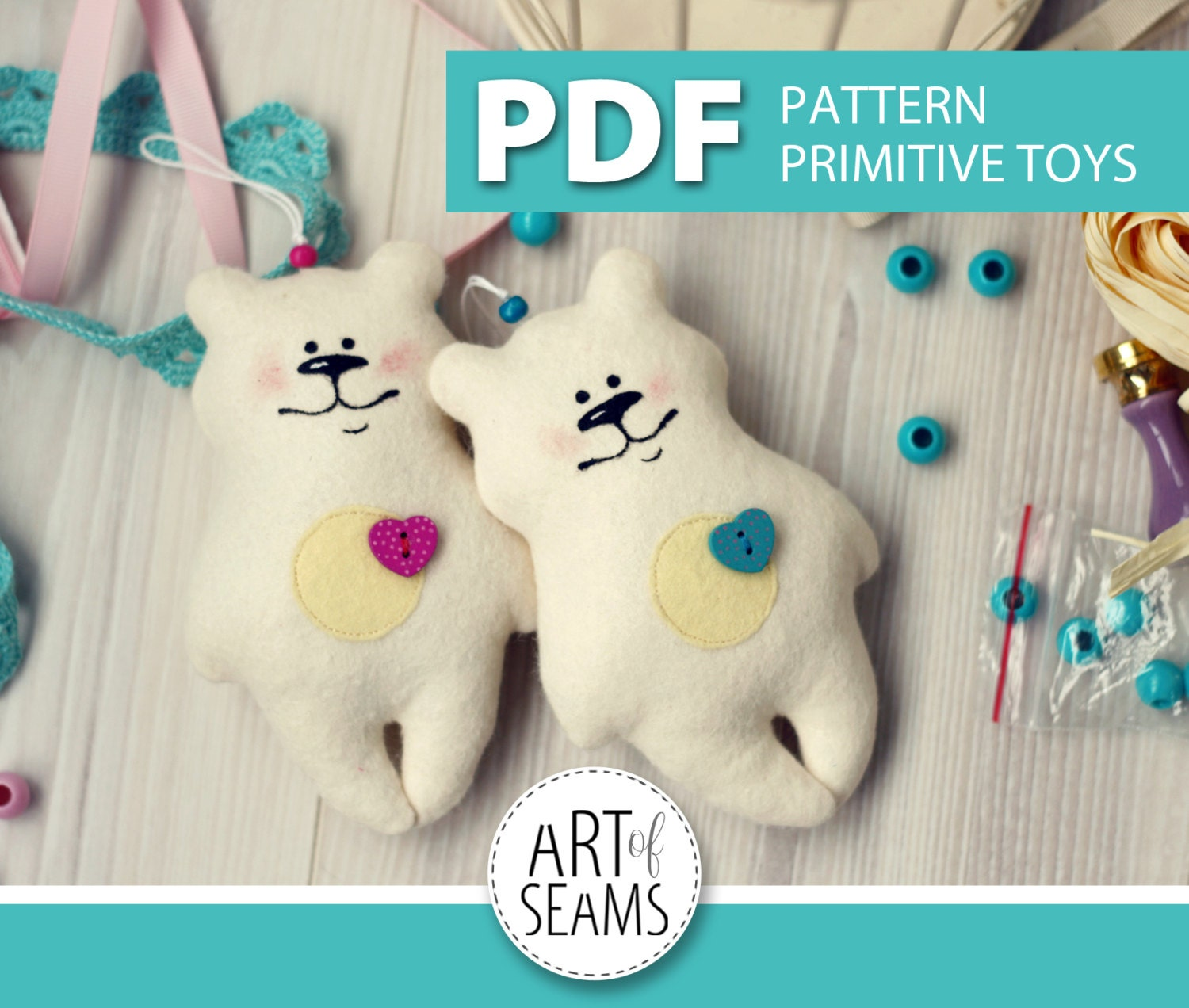 Toys made of felt patterns for beginners