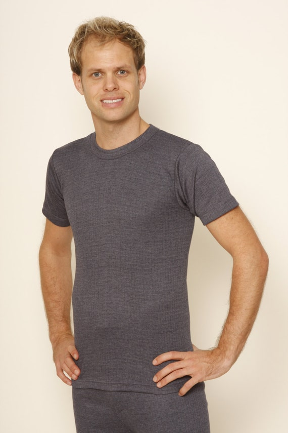 Octave/® Mens Thermal Underwear Short Sleeve V-Neck T-Shirt//Vest//Top