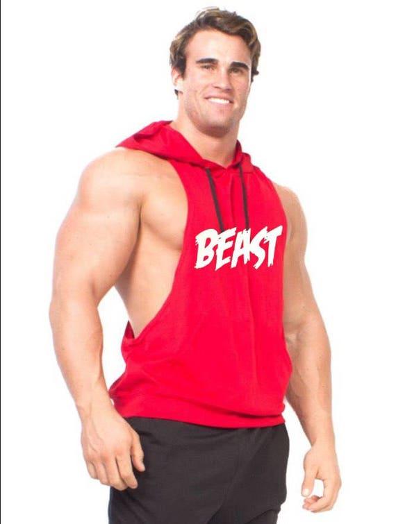 Sleeveless Beast Racerback Muscle hoodie WOMEN SIZE