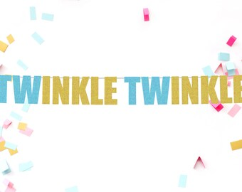 Twinkle Twinkle banner   baby shower decorations   baby shower   glitter banner   baby shower banner   birthday banner