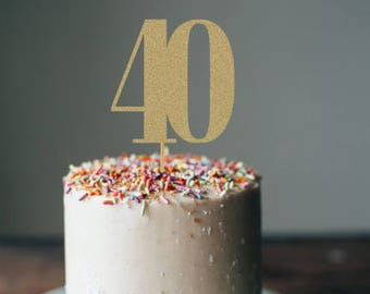 Forty Cake Topper 40th Birthday Decorations Party