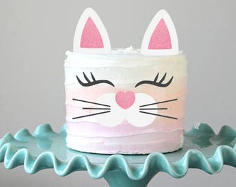 Kitty Cake Topper Cat Birthday Decorations Party Girls
