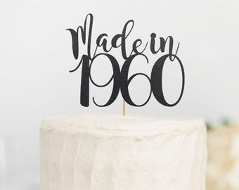 Cheers to 60 Made in 1959 Sign Established in 1959 60th Anniversary Cake Topper 60th Birthday Cake Topper Made in 1959 Cake Topper