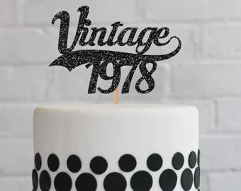 Hello 40 Cake Topper 40th Birthday Cake Topper 40th Birthday