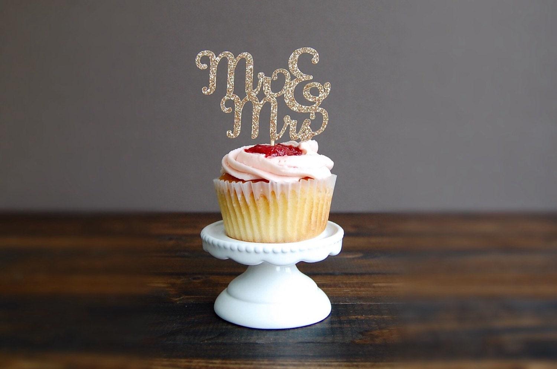 Cupcake Toppers Wedding Wedding Cupcake Toppers Bridal Etsy