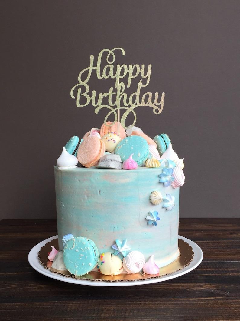 Cake topper Happy Birthday cake topper birthday cake | Etsy